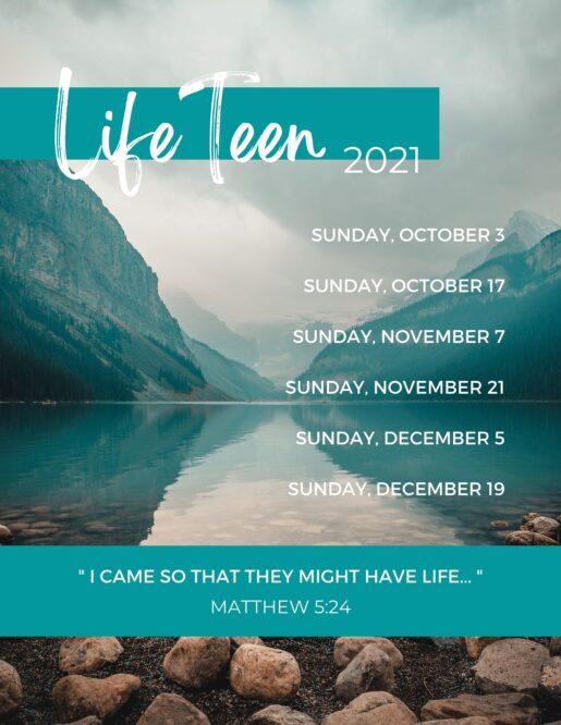 LifeTeen Schedule (2021)